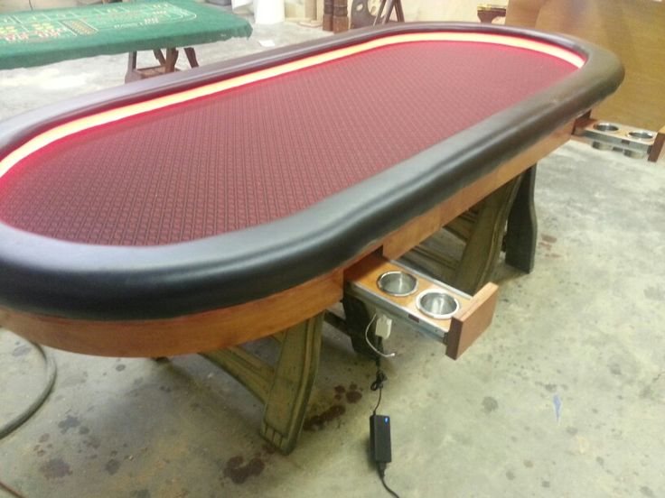 Lovely Slide Out Cup Holders...led Lighting | Custom Poker Tables | Pinterest |  Custom Poker Tables And Cup Holders