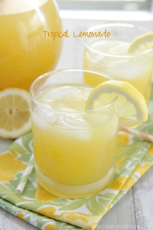 Tropical Lemonade - Eat. Drink. Love.