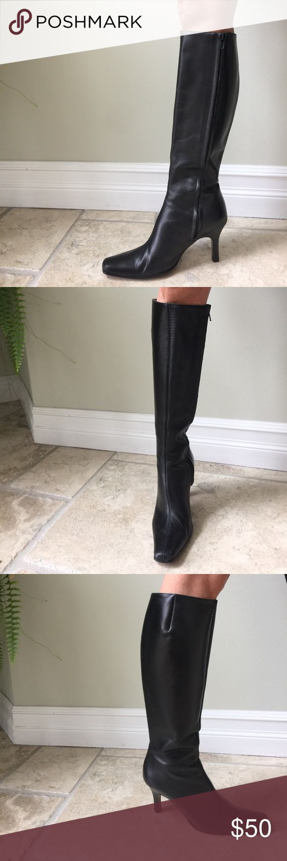 J Crew Leather Knee-high Boots with Heel Genuine leather J. Crew boots. Knee high. Size 7. Full inside zipper. Great condition. Made in Italy. J. Crew Shoes Heeled Boots