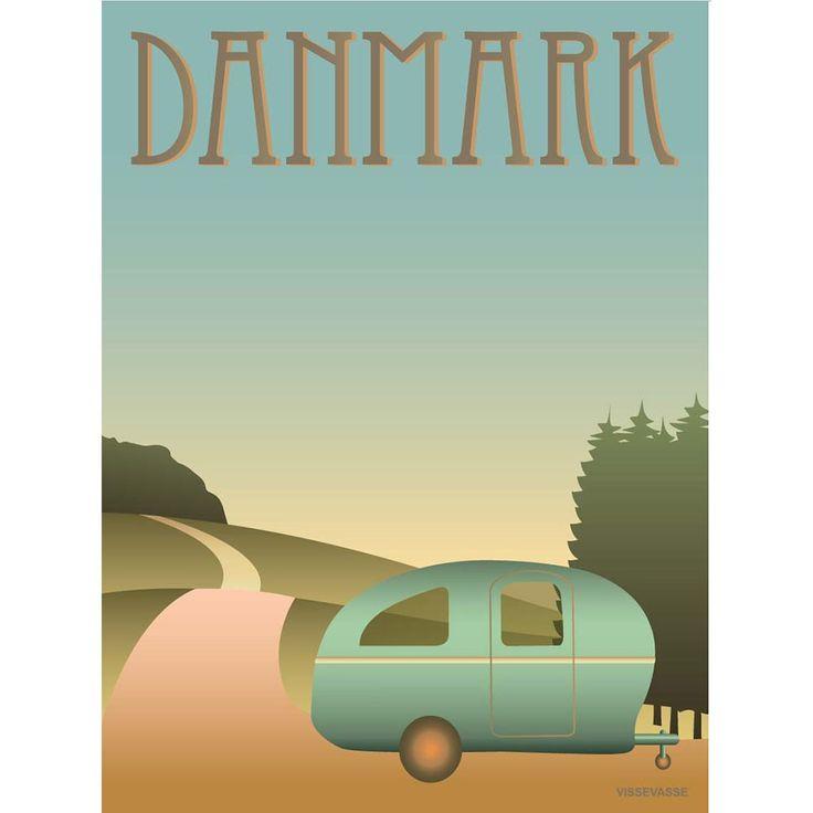 DANMARK - Camping, 30x40 cm