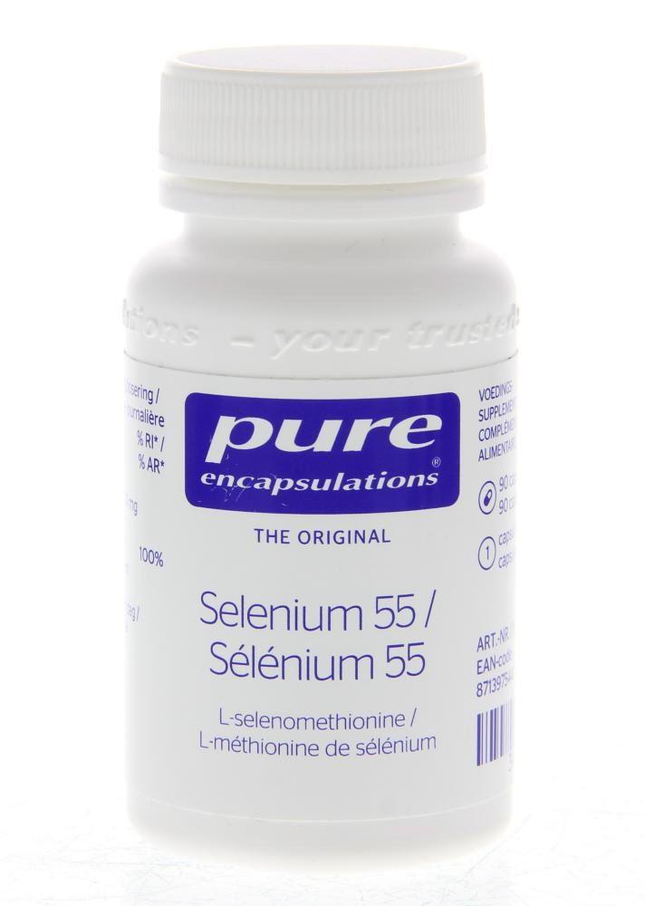 Pure Encapsulations Selenium 55 Capsules 90Caps  Description: Pure Encapsulations Selenium 55.Het oligo-element selenium komt in de aardbodem voor en bereikt de voedselketen via groenten en granen. In Europa bevat de bodem echter relatief weinig selenium. Selenium draagt als antioxidans bij tot de bescherming van cellen tegen oxidatieve stress en is belangrijk voor de normale werking van het immuunsysteem. Selenium speelt eveneens een significante rol in de activatie vande…
