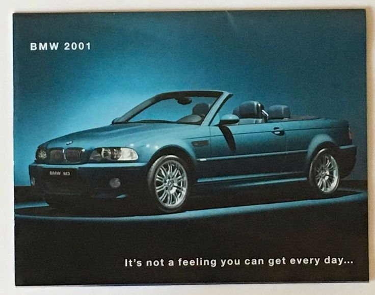 2001 BMW Sales Brochure M3 Poster Full Model Line Convertible Z3 3 Series