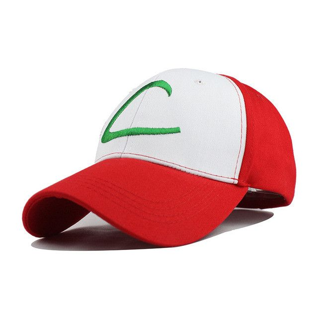 Pokemon Go Anime Cospaly Hat ASH KETCHUM Visor Cap Costume Play Baseball Hat Fitted Hat Casual Cap Gorras Hip Hop Men Women