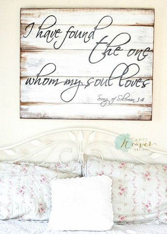 """""""I have found the one"""" Wood Sign {customizable} - Aimee Weaver Designs"""