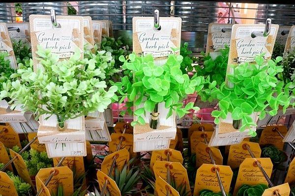 ガーデンバンブーピック・ダイソー 造花&フェイクグリーンでアレンジをお洒落に!ブリキ・スチール鉢 口コミ&評判|快適なライフスタイル@生活にちょっぴりスパイスを
