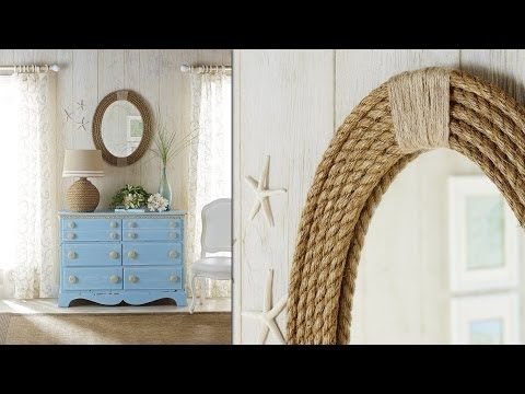 Powder Room Mirror Nautical Rope Mirror Frame: DIY Rope Projects