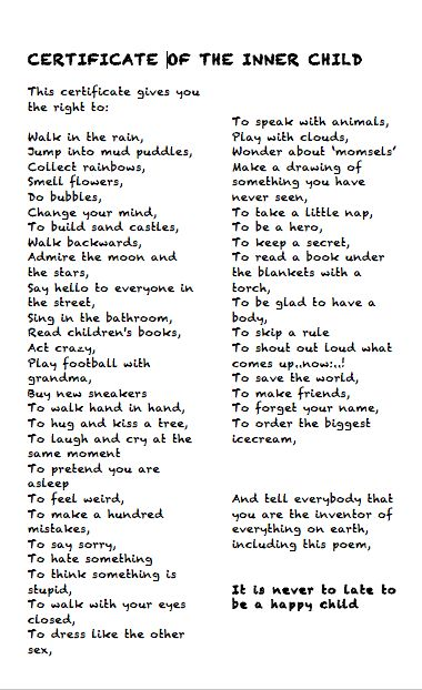 inner child poem