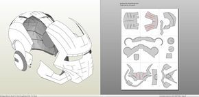 Papercraft .pdo file template for Iron Man - Mark 2 Full Armor +FOAM+.