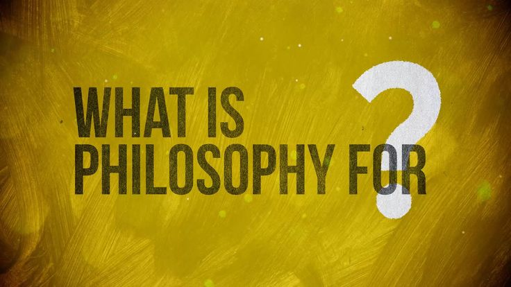 What is Philosophy for?  ...