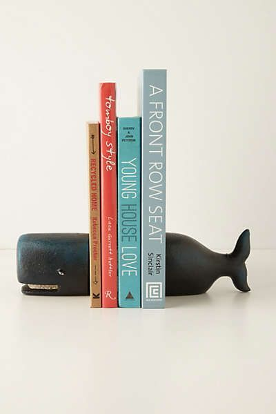 Victorian Whale Bookends #anthrofave