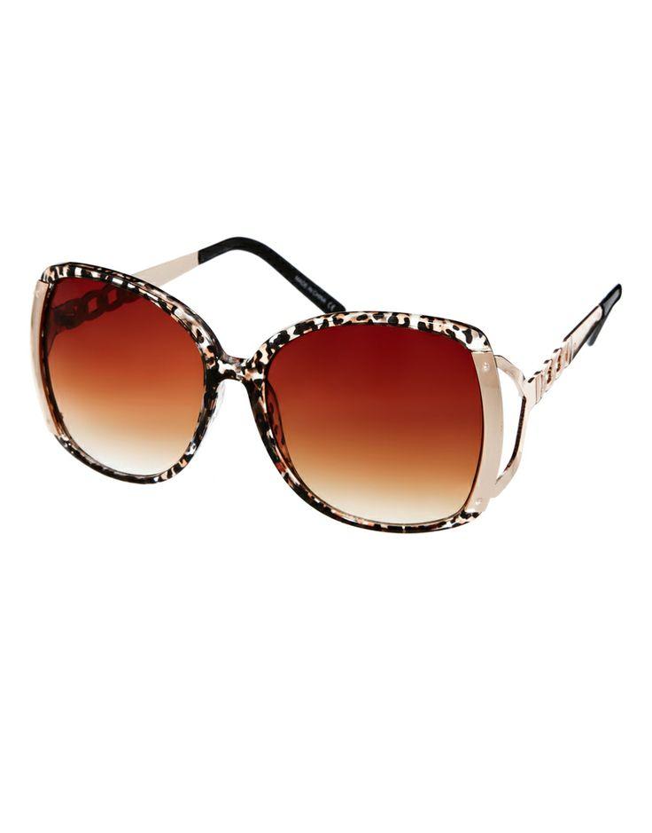 River Island | River Island Kim Brown Leopard Sunglasses at ASOS
