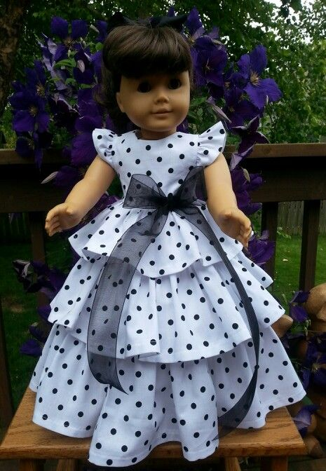 Ruffled dress made with Butterick Retro Pattern