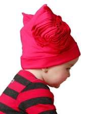 Kashka Soft Hat wt Side Flower Magenta