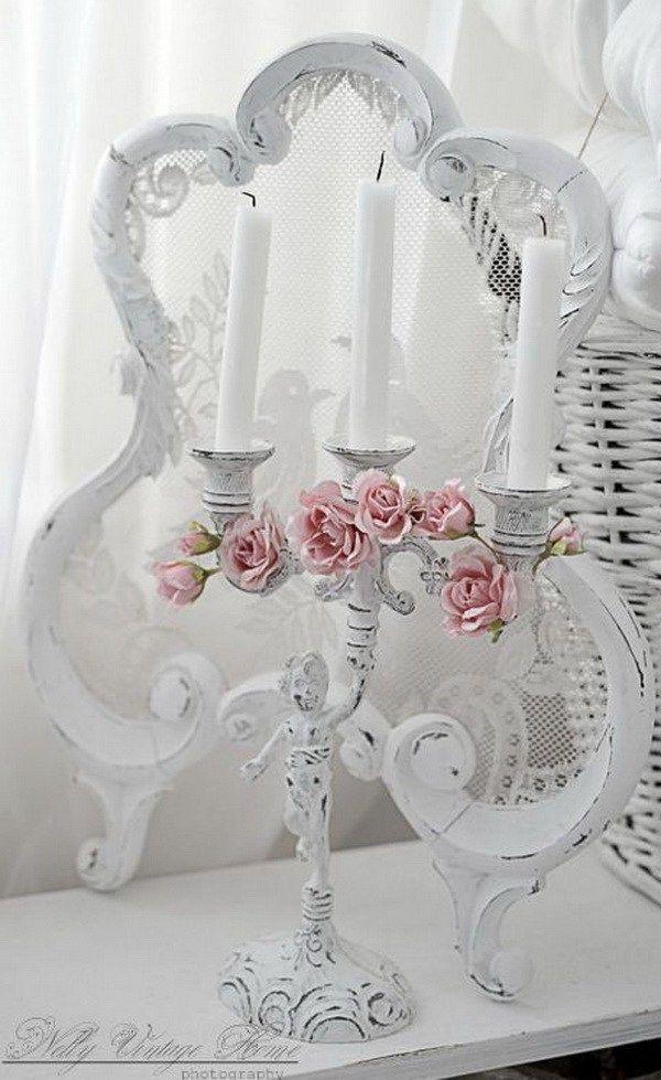 596 best d cors romantiques images on pinterest shabby. Black Bedroom Furniture Sets. Home Design Ideas