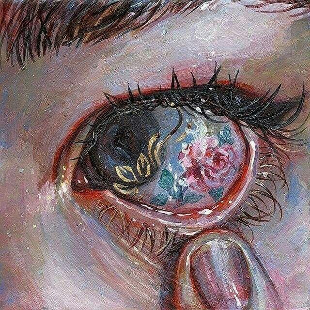 SKETCH EYES Eye of roses – art