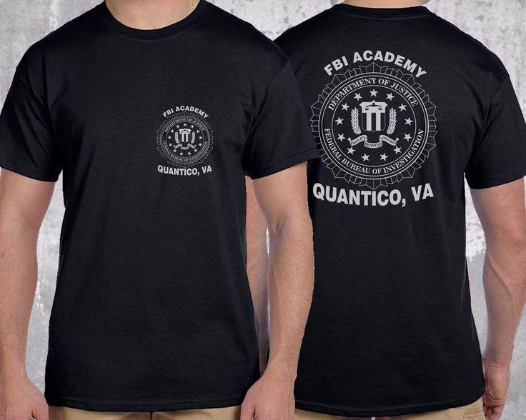 NEW FBI Academy Quantico, VA Police US Department Of Justice T-Shirt #GildanorOther #GraphicTee