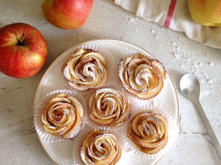 Apple roses / Розочки из яблок и слоеного теста