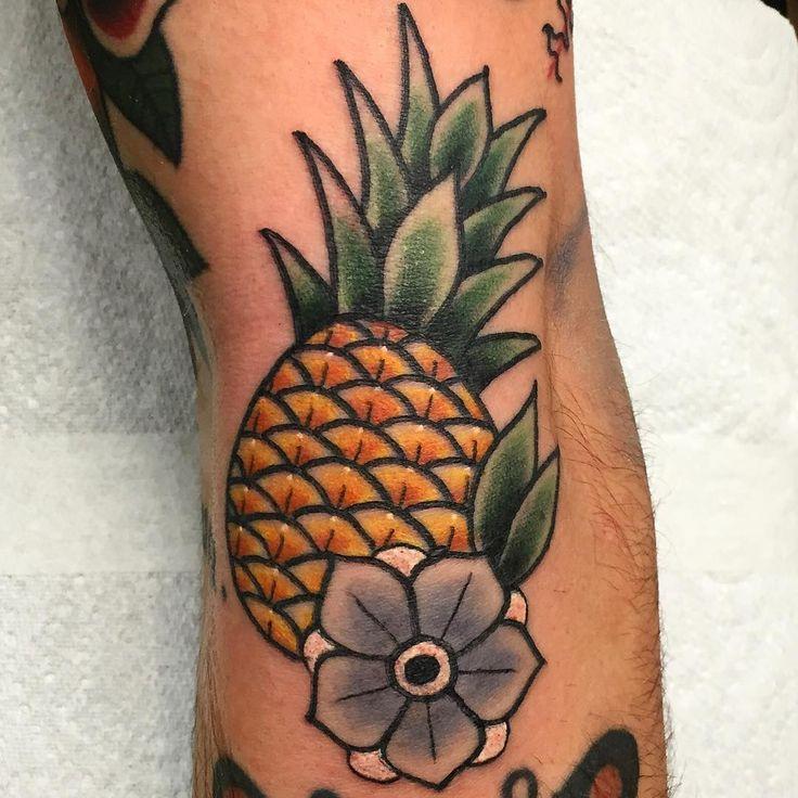 pineapple tattoo American traditional!