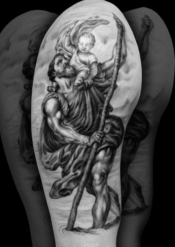 Best 25 St Christopher Tattoo Ideas On Pinterest St