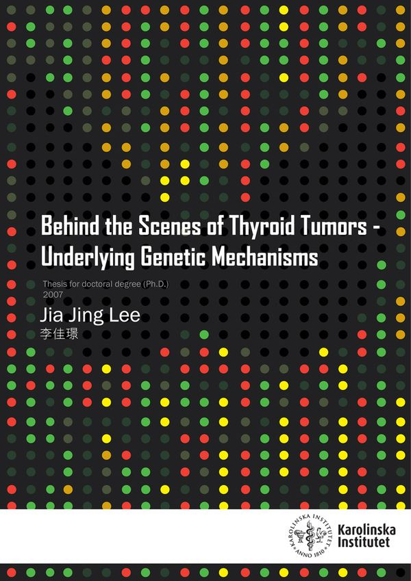 Behind the Scenes of Thyroid Cancer Book Cover on Behance
