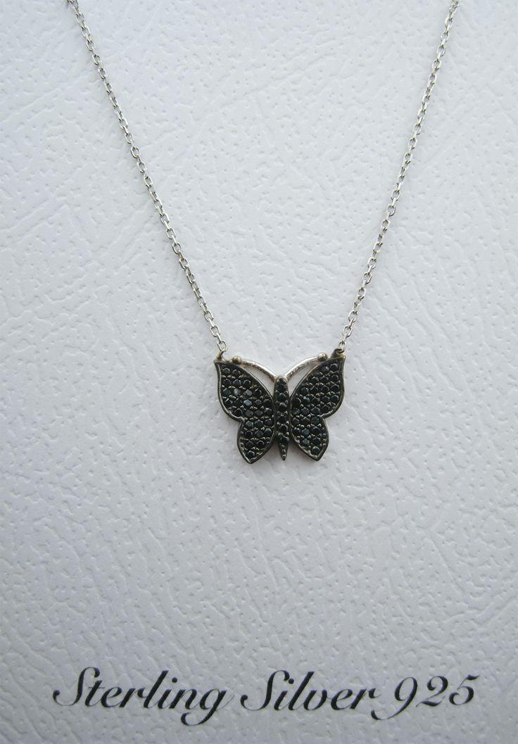 Сребърно колие Пеперуда