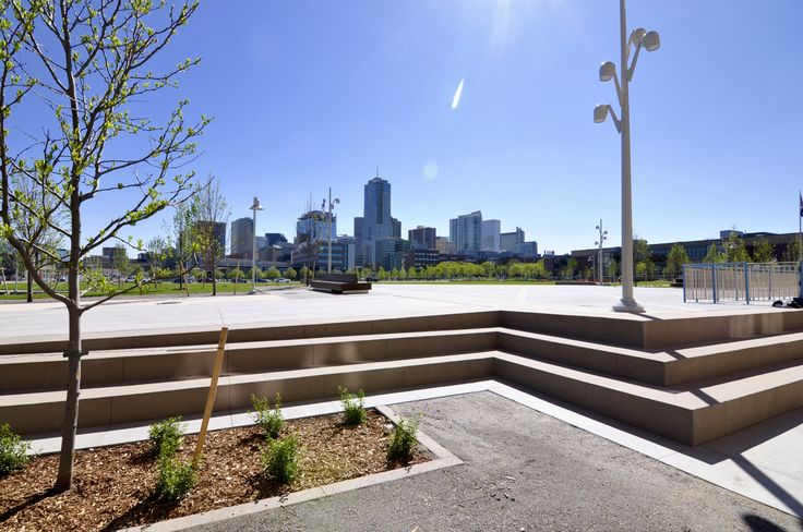 Auraria Tivoli Commons Quad. Design by Wenk Associates; General Contractor: Pinkard Construction; Con… (With images) | Campus landscape ...