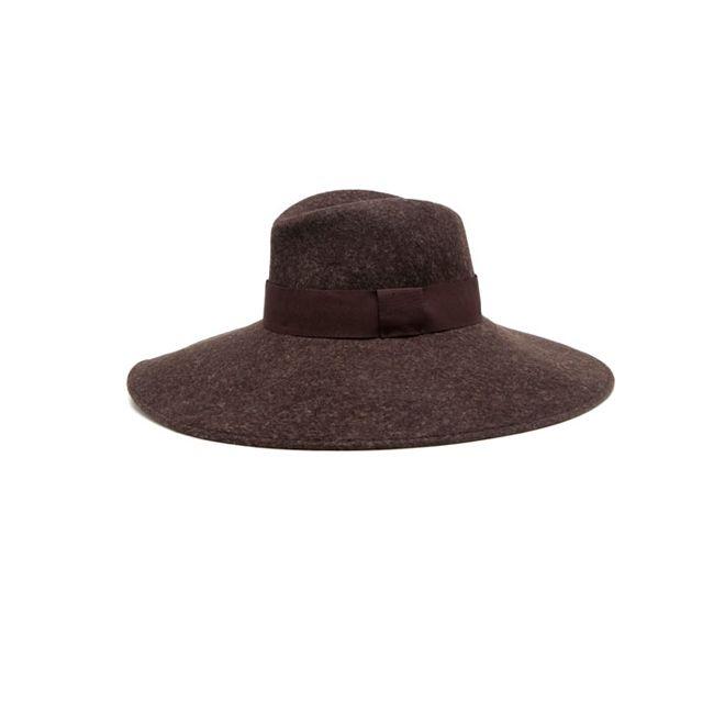 Sombrero borsalino de ala ancha