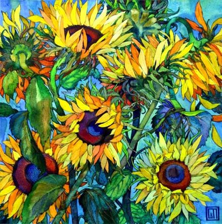 Sunflowers 2 - my mom loved sunflowers so I tend to smile whenever I see them in anything and they remind me of her