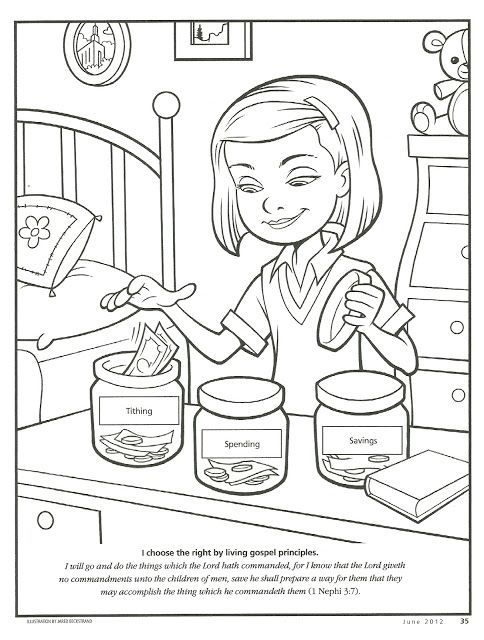 tithing fhe coloring page - Coloring Pages Primary Lessons
