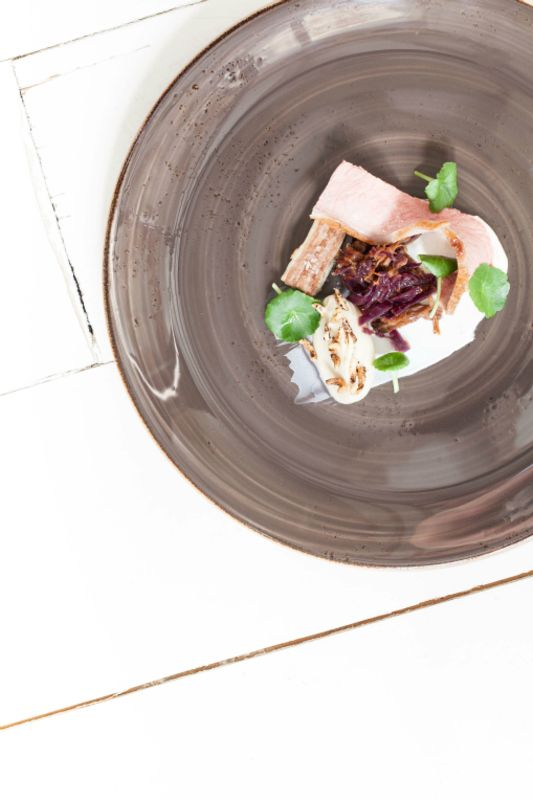 Lamb saddle, shoulder and belly, fermented cabbage, yoghurt, celeriac recipe by professional chef Paul Foster