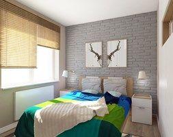 SYPIALNIA 2 - Mała sypialnia małżeńska, styl eklektyczny - zdjęcie od FORMA - Pracownia Architektury Wnętrz i Krajobrazu