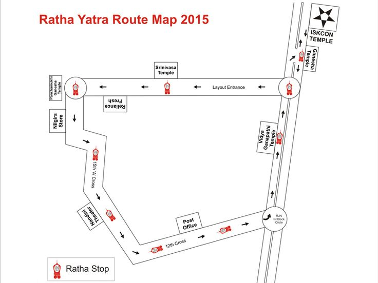 Please make note of Ratha Yatra 2015 route. To know more : https://www.iskconbangalore.org/news/ratha-yatra-route/