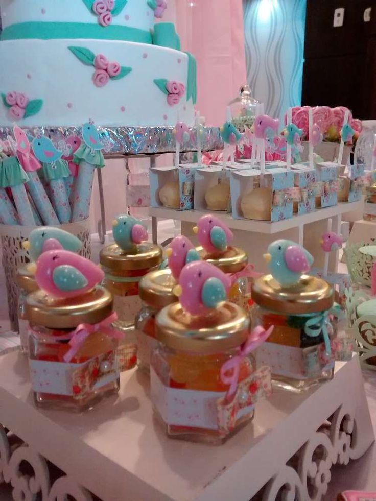 Bird baptism party favors! See more party planning ideas at CatchMyParty.com!