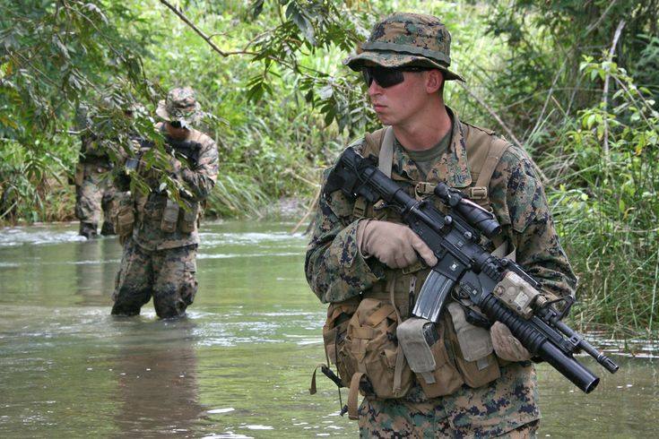 This is the Marine recon task force. They do stealthy missions in all terrain.