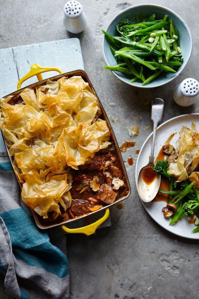 Joe Wicks' low carb beef and mushroom pie recipe
