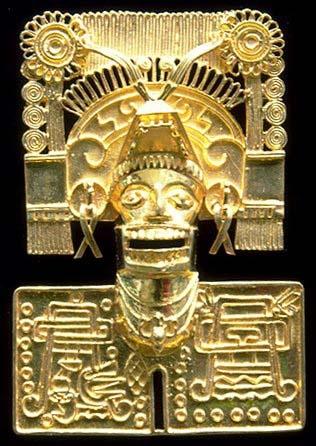 Workpiece of the treasure ,Tomb 7 in Zapotec ,Mexico