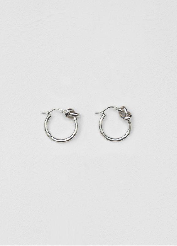 adaf006611 Knot small hoops in brass   CÉLINE   SS 2018-19 Macro Trend ...
