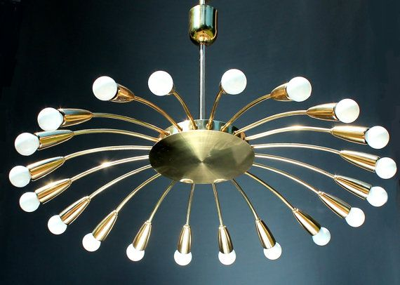 1 of 3 Brass Spider 20 Lights SPUTNIK LAMP by GRAFvonBRUECK
