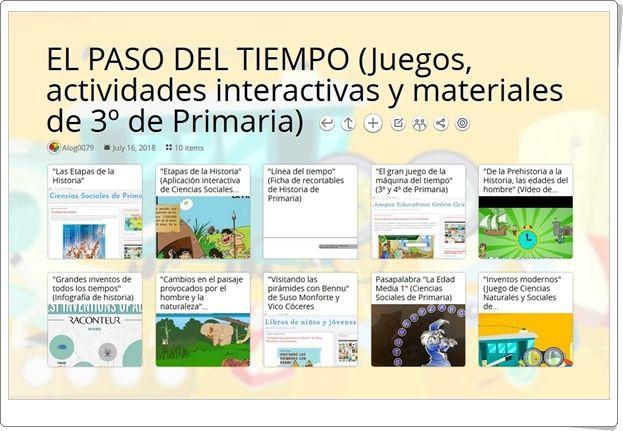 10 Juegos Actividades Interactivas Y Materiales Para El Estudio De El Paso Del Tiempo En 3º De Primar Actividades Interactivas Actividades Nivel De Educación