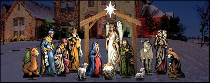 25 Best Outdoor Nativity Images On Pinterest Nativity