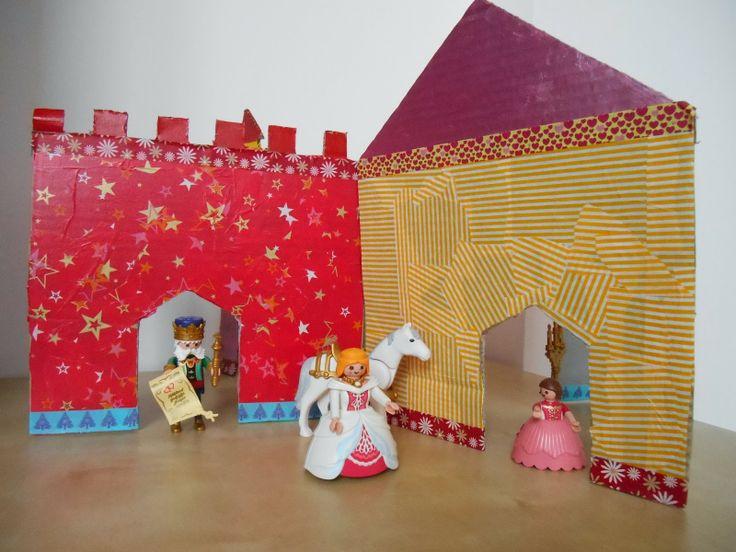 Les 25 meilleures id es de la cat gorie ch teau en carton sur pinterest chateau boite en - Maison carton enfant ...