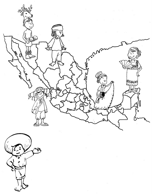 Mexicos Map Of Traditional Dress