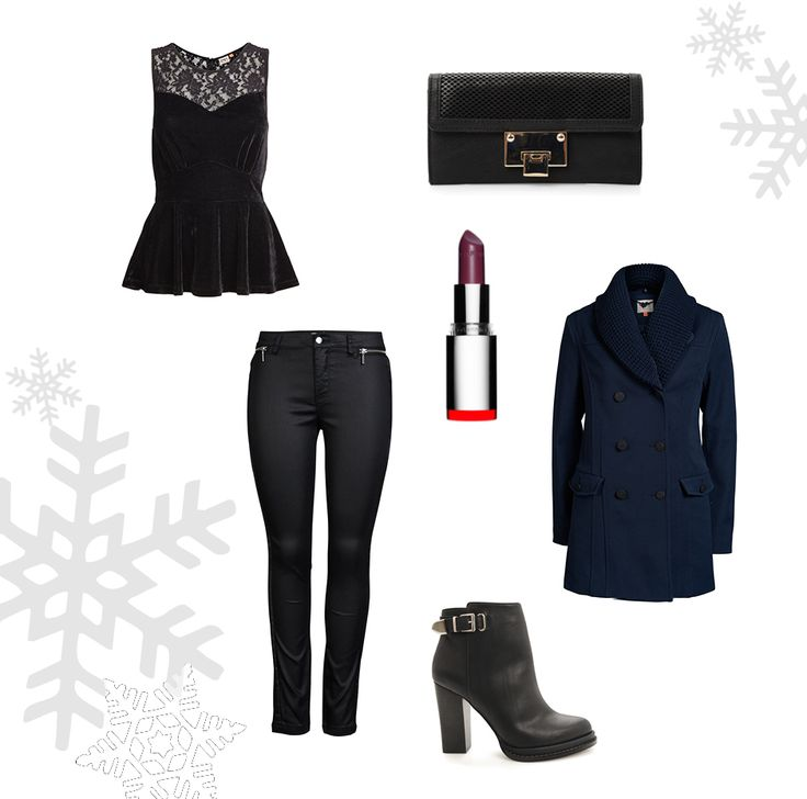 Peplum tops, and black jeans is a must have this christmas
