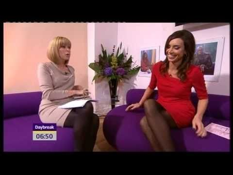 Kate Garraway and Christine Bleakley in black tights