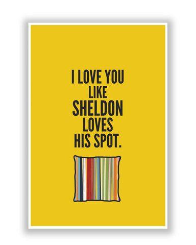 PosterGuy Love You Like Sheldon The Big Bang Theory Poster