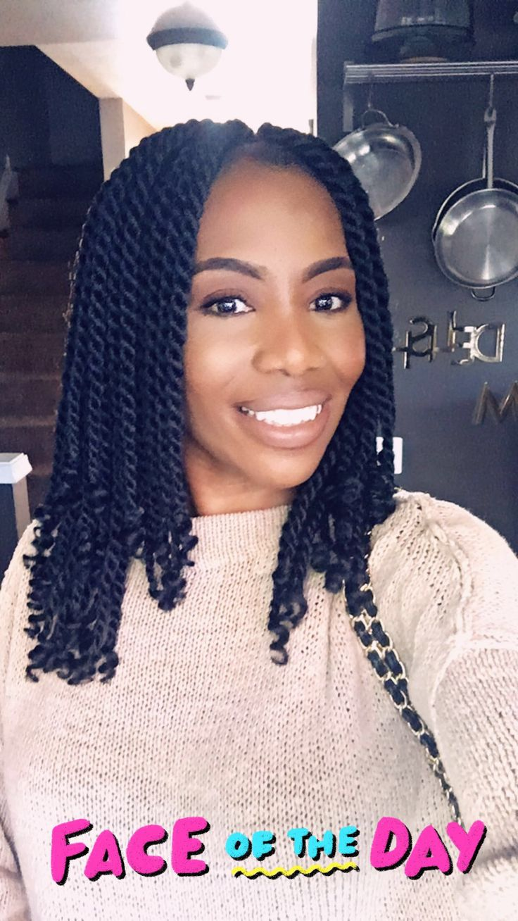 Freetress 2x puffy twist crochet hair in color 1. 3 packs