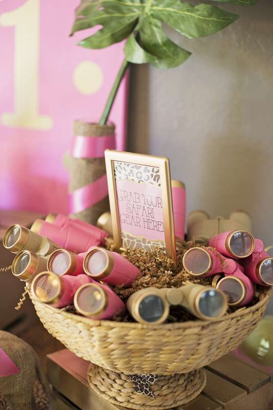Pink & Gold Safari Glam Birthday Party Ideas | Photo 2 of 17 | Catch My Party