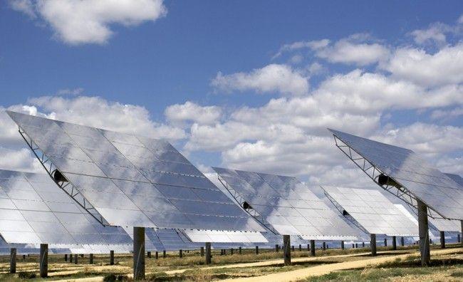Paneles solares planta termoeléctrica