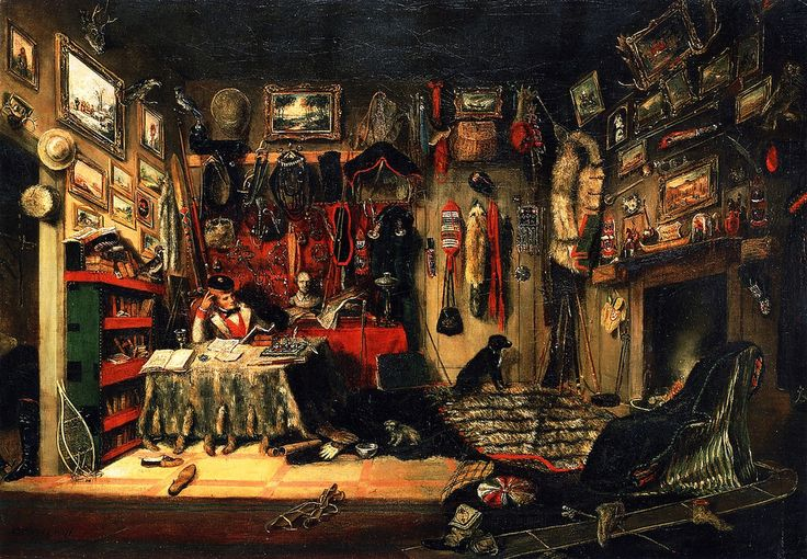 Cornelius Krieghoff - An Officer's Room in Montreal
