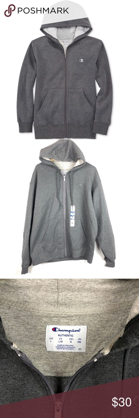 Champion full zip hoodie New size large tags has been marked to prevent store returns size large unisex Champion Sweaters